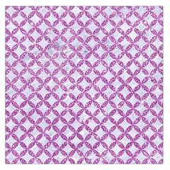 Circles3 White Marble & Purple Glitter (r) Large Satin Scarf (square)