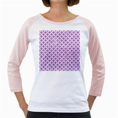 Circles3 White Marble & Purple Glitter Girly Raglans
