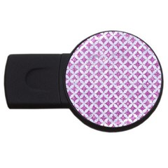 Circles3 White Marble & Purple Glitter Usb Flash Drive Round (2 Gb)