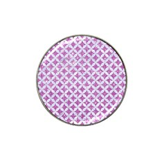 Circles3 White Marble & Purple Glitter Hat Clip Ball Marker