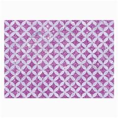 Circles3 White Marble & Purple Glitter Large Glasses Cloth