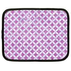 Circles3 White Marble & Purple Glitter Netbook Case (xxl)