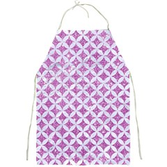 Circles3 White Marble & Purple Glitter Full Print Aprons