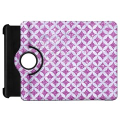 Circles3 White Marble & Purple Glitter Kindle Fire Hd 7