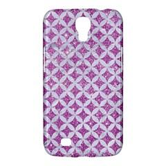 Circles3 White Marble & Purple Glitter Samsung Galaxy Mega 6 3  I9200 Hardshell Case