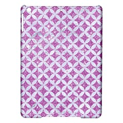 Circles3 White Marble & Purple Glitter Ipad Air Hardshell Cases