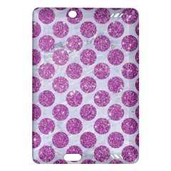Circles2 White Marble & Purple Glitter (r) Amazon Kindle Fire Hd (2013) Hardshell Case