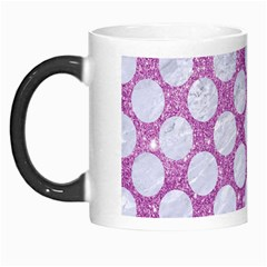 Circles2 White Marble & Purple Glitter Morph Mugs