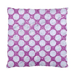 Circles2 White Marble & Purple Glitter Standard Cushion Case (one Side)