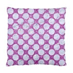 CIRCLES2 WHITE MARBLE & PURPLE GLITTER Standard Cushion Case (One Side) Front