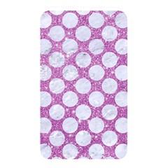 Circles2 White Marble & Purple Glitter Memory Card Reader