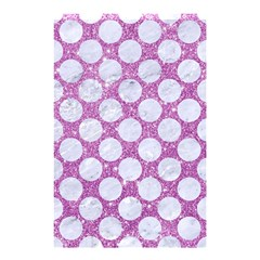 Circles2 White Marble & Purple Glitter Shower Curtain 48  X 72  (small)  by trendistuff