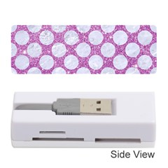 Circles2 White Marble & Purple Glitter Memory Card Reader (stick)