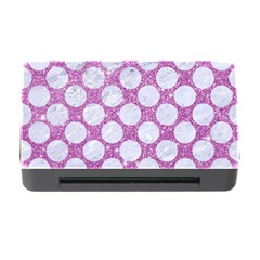 Circles2 White Marble & Purple Glitter Memory Card Reader With Cf by trendistuff