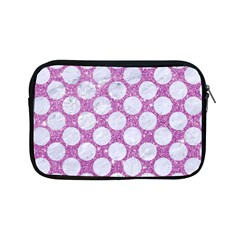 Circles2 White Marble & Purple Glitter Apple Ipad Mini Zipper Cases