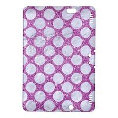 Circles2 White Marble & Purple Glitter Kindle Fire Hdx 8 9  Hardshell Case by trendistuff