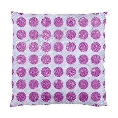 Circles1 White Marble & Purple Glitter (r) Standard Cushion Case (two Sides)