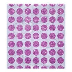 Circles1 White Marble & Purple Glitter (r) Shower Curtain 66  X 72  (large)