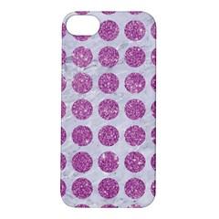 Circles1 White Marble & Purple Glitter (r) Apple Iphone 5s/ Se Hardshell Case