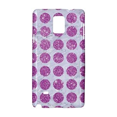 Circles1 White Marble & Purple Glitter (r) Samsung Galaxy Note 4 Hardshell Case