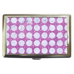 Circles1 White Marble & Purple Glitter Cigarette Money Cases