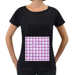 Circles1 White Marble & Purple Glitter Women s Loose Fit T Shirt (black)