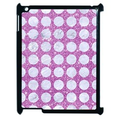 Circles1 White Marble & Purple Glitter Apple Ipad 2 Case (black)