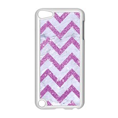 Chevron9 White Marble & Purple Glitter (r) Apple Ipod Touch 5 Case (white)