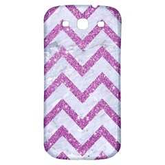 Chevron9 White Marble & Purple Glitter (r) Samsung Galaxy S3 S Iii Classic Hardshell Back Case