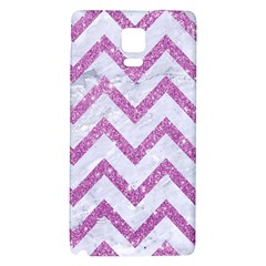 Chevron9 White Marble & Purple Glitter (r) Galaxy Note 4 Back Case