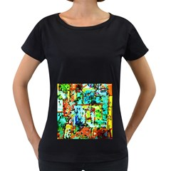 Birds   Caged And Free Women s Loose Fit T Shirt (black)