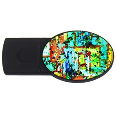 Birds   Caged And Free Usb Flash Drive Oval (4 Gb)