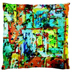 Birds   Caged And Free Large Flano Cushion Case (two Sides)