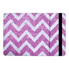 Chevron9 White Marble & Purple Glitter Samsung Galaxy Tab Pro 10 1  Flip Case