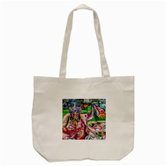 Budha Denied The Shine Of The World Tote Bag (cream)
