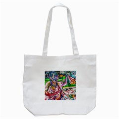 Budha Denied The Shine Of The World Tote Bag (white)