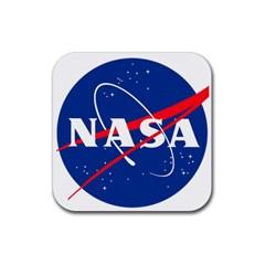 Nasa Logo Rubber Square Coaster (4 Pack)