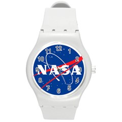 Nasa Logo Round Plastic Sport Watch (m)