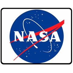 Nasa Logo Double Sided Fleece Blanket (medium)