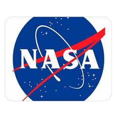 Nasa Logo Double Sided Flano Blanket (large)