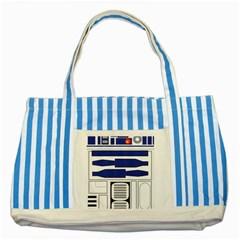 R2 Series Astromech Droid Striped Blue Tote Bag