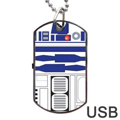 R2 Series Astromech Droid Dog Tag Usb Flash (one Side)