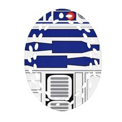 R2 Series Astromech Droid Ornament (oval Filigree)