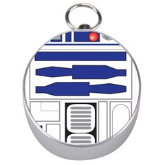 R2 Series Astromech Droid Silver Compasses
