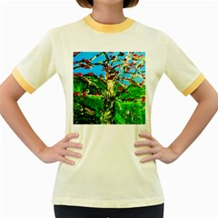 Coral Tree 2 Women s Fitted Ringer T Shirts