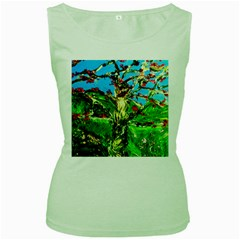 Coral Tree 2 Women s Green Tank Top