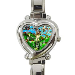 Coral Tree 2 Heart Italian Charm Watch