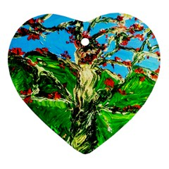 Coral Tree 2 Heart Ornament (two Sides)