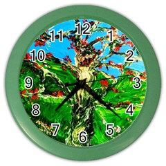 Coral Tree 2 Color Wall Clocks