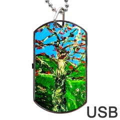 Coral Tree 2 Dog Tag Usb Flash (two Sides)